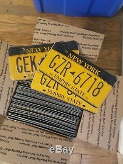 100 NY license plates bulk lot very good condition, perfect collecting or wall