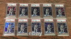 10x GLEYBER TORRES 2018 Topps Update Rainbow Foil NY Rookie US200 PSA 10 Lot