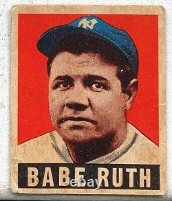1948 Leaf New York Yankees Babe Ruth #3 G+ Creases Hall Of Fame