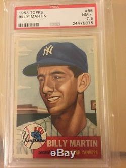 1953 Topps Billy Martin PSA 7.5 NM+ NY Yankees 2nd yr! Near Mint -Centered SP