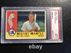 1960 Topps MICKEY MANTLE NY Yankees #350 PSA 7 Nr Mint Classic Investment Card