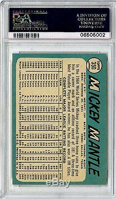 1965 Topps #350 Mickey Mantle New York Yankees PSA Mint 9 & Centered The Best