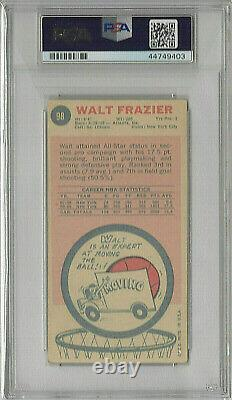 1969 Topps Walt Frazier Ny Knicks Autographed Rookie Card Psa/dna Auto Mint 9