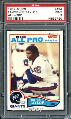 1982 Topps #434 Lawrence Taylor RC PSA 9 Mint Rookie New York Giants