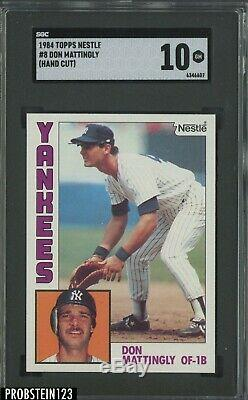 1984 Topps Nestle #8 Don Mattingly New York Yankees RC Rookie SGC 10 GEM MINT