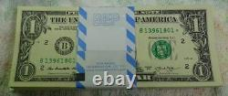 2013 $1.00 STAR PACK NEW YORK FED RESERVE B 100 NOTES MINT w BEP label