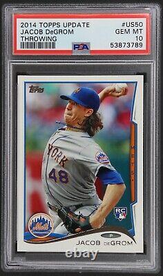 2014 Topps Update Rookie Jacob DeGrom # US50 PSA 10 RC New York Mets89
