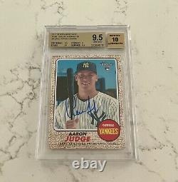 2017 Topps Heritage Aaron Judge RC AUTO 9.5/10 BGS GEM MINT NY Yankees SP