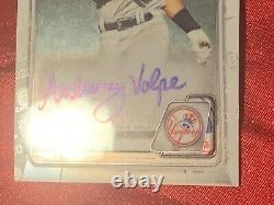 2020 1st Bowman Chrome Anthony Volpe Auto Rookie Card RC NY Yankees Mint HOT