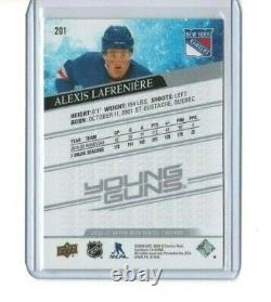 2020-21 Alexis LaFreniere UD Series 1 Young Guns RC No. 201 NY. Rangers, Mint