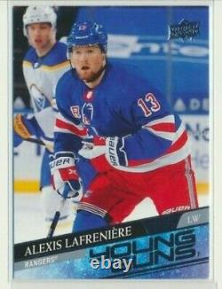 2020-21 Upper Deck Extended Young Guns Rookie 201 Alexis Lafreniere NY Rangers