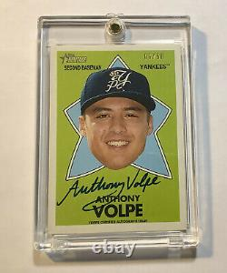 2020 Topps Heritage Minor ANTHONY VOLPE Auto 06/50 All Star Rookies Autograph NY