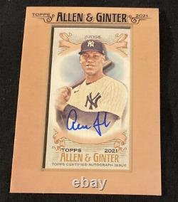 2021 Topps Allen & Ginter Aaron Judge Framed Mini On-card Auto Sp! Ny Yankees