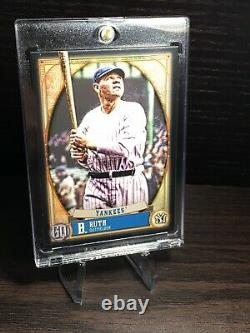 2021 Topps Gypsy Queen Babe Ruth Black 1/1 One Of One #302 New York Yankees Mint