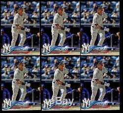 6 Lot 2018 Topps Update Gleyber Torres Rookie US200 RC New York Yankees NY