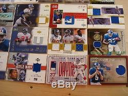 73-diff NY Giants pack pulled auto /Jersey card lot MUST SEE