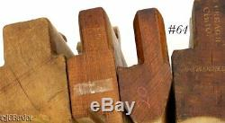 Antique wood wooden MOLDING PLANE TOOL LOT OHIO NY H&R's others carpenter