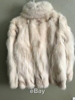 Authentic Fox Fur Coat Jacket by Olga New York Fully Lined Mint Conditions