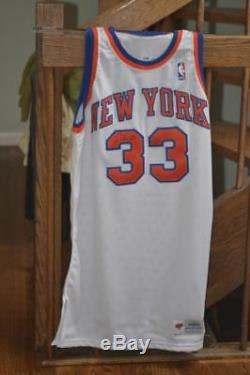 Authentic Game Worn Patrick Ewing New York Knicks Signed 33 Jersey Nba Mint