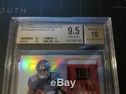 BGS 9.5 Gem Mint 2018 Contenders Optic SAQUON BARKLEY Auto Rookie NY Giants ROY