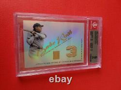 Babe Ruth Game Used Bat Card Graded Bgs Mint 9 2001 Topps Tribute Ny Yankees