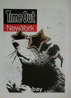Banksy Time Out New York Poster Mint Condition Collectible 2010 Super Rare UK