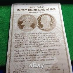 Charles Barber Pattern Double Eagle of 1906. Issued by New York Mint