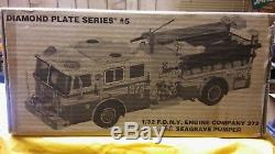 Code 3 FDNY Seagrave Diamond Plate Engine 273 (NY Mets) Mint in Box