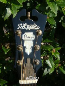 DAngelico N. Y. Mahog parlour size guitar solid top mint condition sounds great