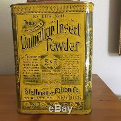 Dalmation Insect Powder Store Tin in MINT condition. 1900 New York City