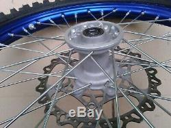 Front Rear Wheel Blue DID Rims Hubs Wave Rotors Near NOS Mint YZ125 2019