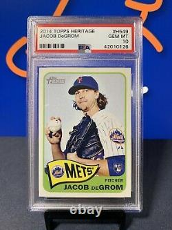 Jacob deGrom 2014 Topps Heritage #H549 PSA 10 Gem Mint Rookie RC NY Mets