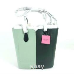 Kate Spade Bag New York Nicola Bicolor Large Evergreen / Mint Green Leather Tote