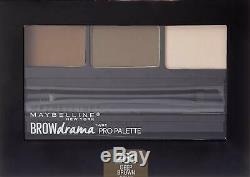 LOT OF 100 NEW Maybelline New York Brow Drama Pro Eyebrow Palette, 4 Variations