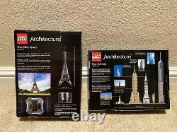 Lego Architecture Lot 2 Sets 21019 Eiffel Tower 21028 New York City New In Box