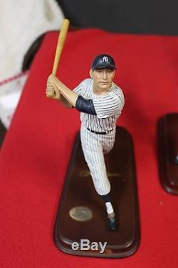 Lot Of 8 NEW YORK YANKEES DANBURY MINT STATUE FIGURINES See List Of Playerd