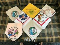 Lot of 25 Vintage Boy Scout Scarves Neckerchiefs Used Upstate New York