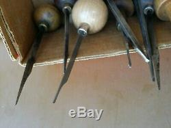 Lot of 32 Vintage Engraving Tools E. C. Muller NY Gunsmith, Jewelry, Carpenter