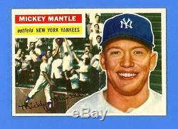 Mickey Mantle 1956 Topps #135 New York Yankees Nrmint-mint! Unbelievable