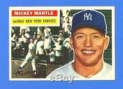 Mickey Mantle 1956 Topps #135 New York Yankees Nrmint-mint+ Unbelievable