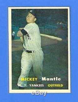 Mickey Mantle 1957 Topps #95 New York Yankees Nrmint-mint! Unbelievable
