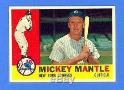MICKEY MANTLE 1960 TOPPS #350 NEW YORK YANKEES NRMINT-MINT! SPECTACULAR