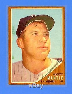 MICKEY MANTLE 1962 TOPPS #200 NEW YORK YANKEES NRMINT-MINT! INCREDIBLE
