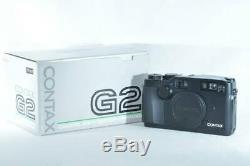 MINT in Box Contax G2 Black Rangefinder Film Camera Body (ny1043)