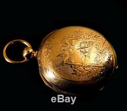Mega Rare Antique 18s New York Springfield JC Perry KW KS Gold Pocket Watch Mint