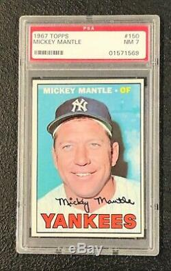 New York Yankees Mickey Mantle 1967 Topps PSA 7 #150 Near Mint