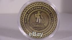 Nintendo NY World Store LINK Coin EXCLUSIVE! ZELDA MARIO MINT/NEAR MINT