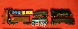 Old Marx Freight Train LOT Four Running Engines Sets 994 999 1666 NY Central UP