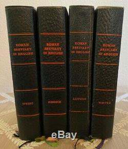 Roman Breviary in English-Complete Four Volume Set in Mint Condition! RARE