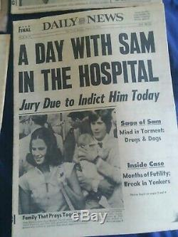 Son Of Sam Newspapers Lot Of 12 Serial Killer New York Berkowitz 1977